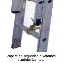 ESCALERA 14P EXT 2 CUERPOS ALUM WORKER