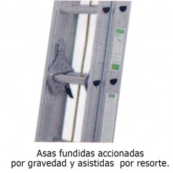 ESCALERA 28P PARED 2 CUERPOS ALUM WORKER